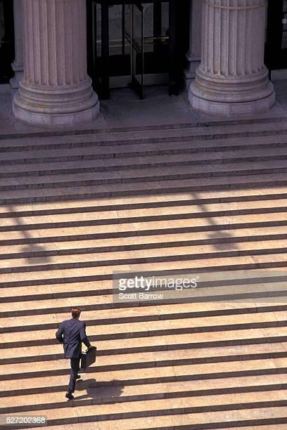 Businessman Climbing Stairway