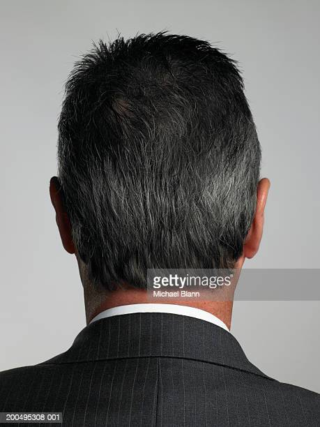 Businessman close-up, rear view