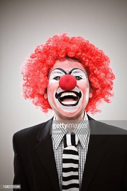 Geschäftsmann Clown Lachen