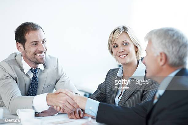 Businessman coming to an agreement