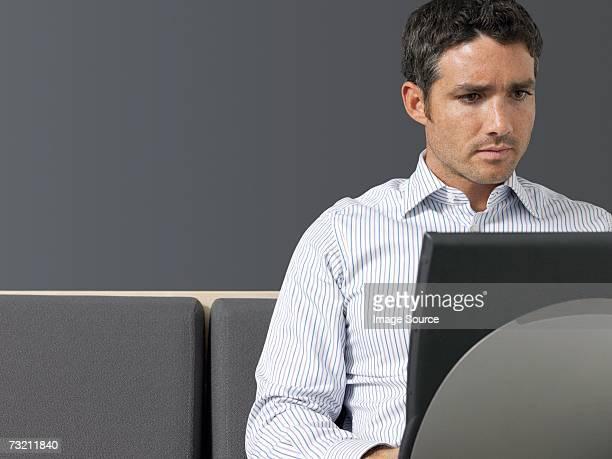 Businessman concentrating