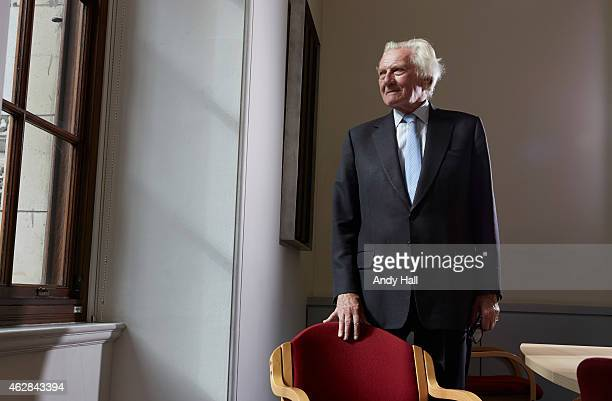 Businessman Conservative politician and patron of the Tory Reform Group Michael Heseltine is photographed for the Observer on September 25 2014 in...