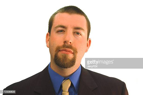 businessman considering - goatee stock pictures, royalty-free photos & images