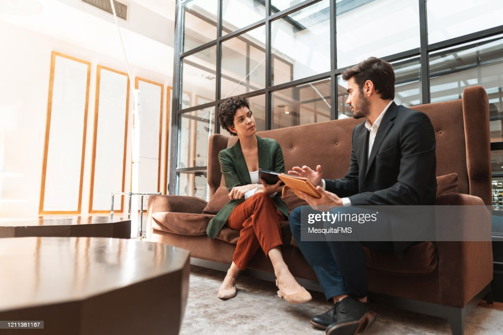 Businessman consulting legal expert : Stock Photo