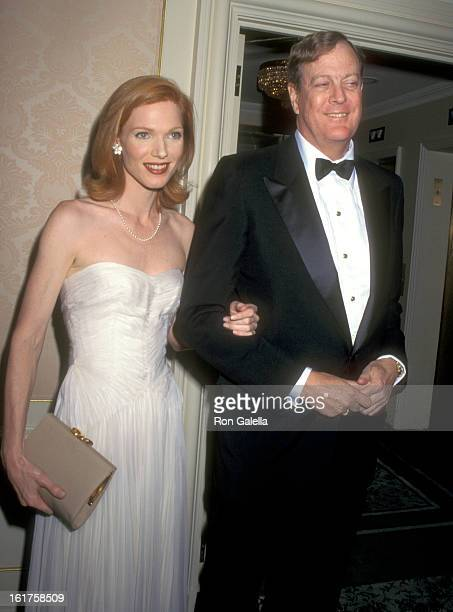 Businessman David H Koch and guest attend The American Museum of the Moving Image Honors Sherry Lansing and Roone Arledge on October 24 1995 at St...
