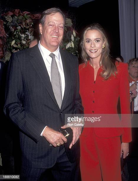 Businessman David H Koch and wife Julia Flesher attend the International Fine Art and Antique Dealers Show on October 10 1996 at Seventh Regiment...