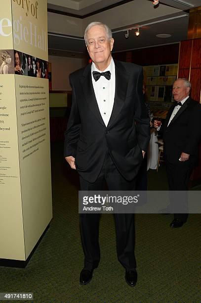 Businessman David Koch attends the Carnegie Hall 125th season opening night gala at Carnegie Hall on October 7 2015 in New York City