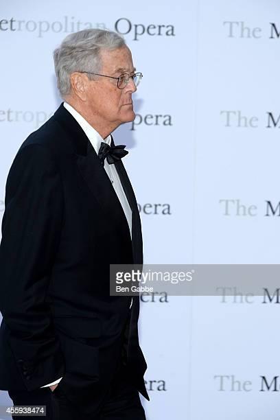 Businessman David Koch attends the Metropolitan Opera Season Opening at The Metropolitan Opera House on September 22 2014 in New York City