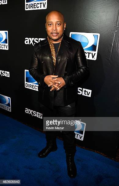 Businessman Daymond John attends DirecTV Super Saturday Night hosted by Mark Cuban's AXS TV and Pro Football Hall of Famer Michael Strahan at...