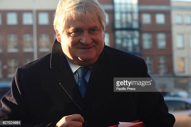 Businessman Denis OBrien arrives at the High Court where he is giving evidence in his action against the Dáil Committee on Procedure and Privileges...