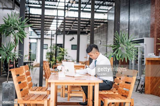 Businessman developing business strategy in coworking space