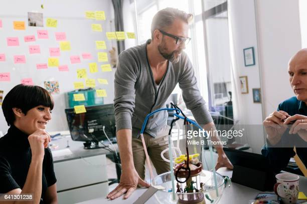 Businessman discussing solution to a business problem