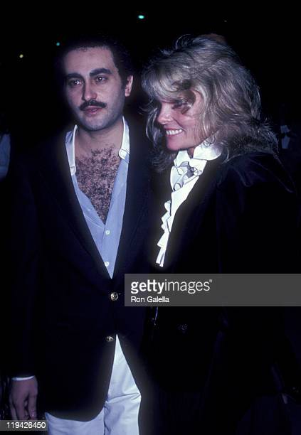 Businessman Dodi AlFayed and actress Cathy Lee Crosby attend the premiere party for Chariots Of Fire on April 8 1982 at the Bistro in Beverly Hills...