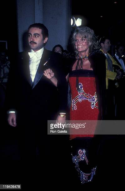 Businessman Dodi AlFayed and actress Cathy Lee Crosby attend Those Fabulous Image Makers Awards on March 27 1982 at the Pasadena Civic Auditorium in...