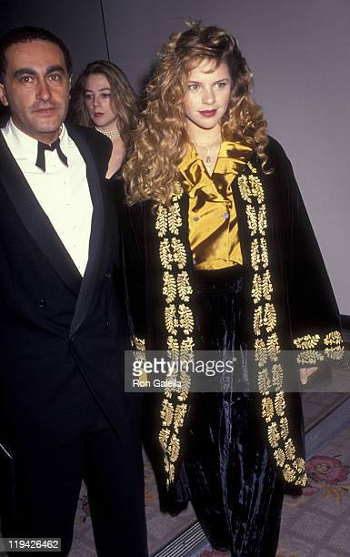 Businessman Dodi AlFayed and Tracy Lynn attend Sixth Annual American Cinematheque Awards Honoring Martin Scorcese on March 22 1991 at the Century...