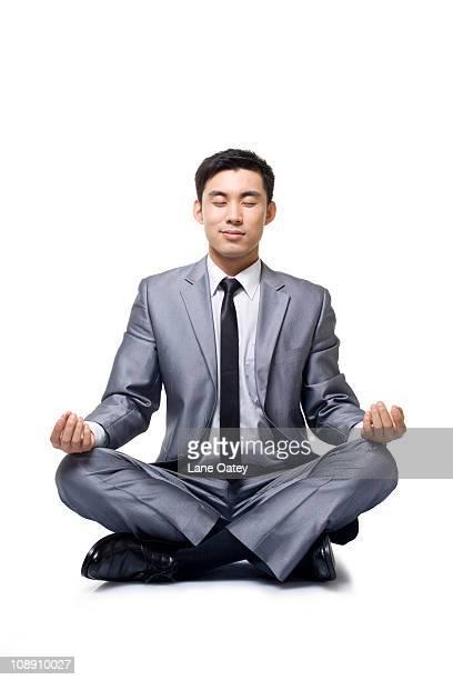 businessman doing yoga - 中国北東部 ストックフォトと画像