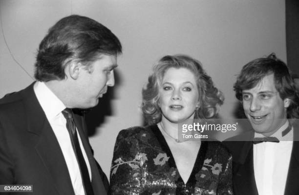 Businessman Donald Trump, actress Kathleen Turner and her husband Jay Weiss attend the D.W. Girffith Awards At Lincoln Center Library in February...