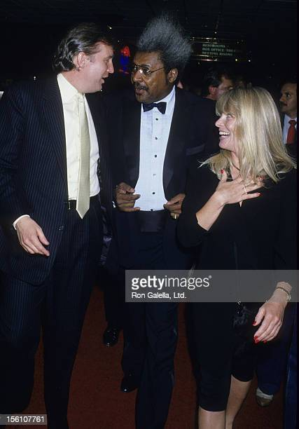Businessman Donald Trump and Fight Promoter Don King attend Mike Tyson vs Michael Spinks Boxing Match on June 27 1988 at the Trump Plaza in Atlantic...