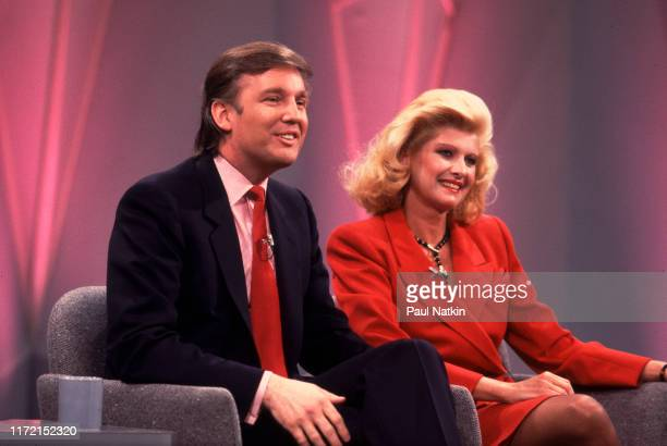 Businessman Donald Trump and his wife Ivana appear on the Oprah Winfrey Show in Chicago, Illinois, April 25, 1988.