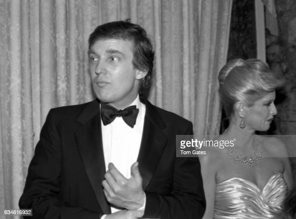 Businessman Donald Trump and his wife Ivana Trump attend the 90th birrthday celebration of Dr Norman Vincent Peale author of the book The Power of...