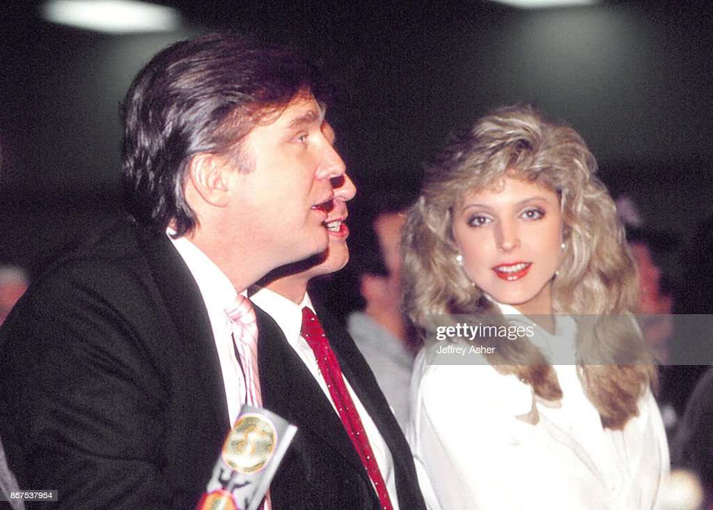 Donald Trump And Marla Maples In Atlantic City : News Photo