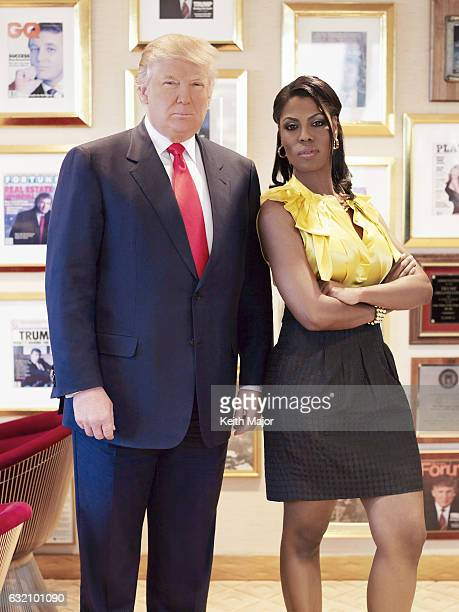 Businessman Donald Trump and TV reality personality Omarosa ManigaultStallworth are photographed for on January 14 2010 in New York City