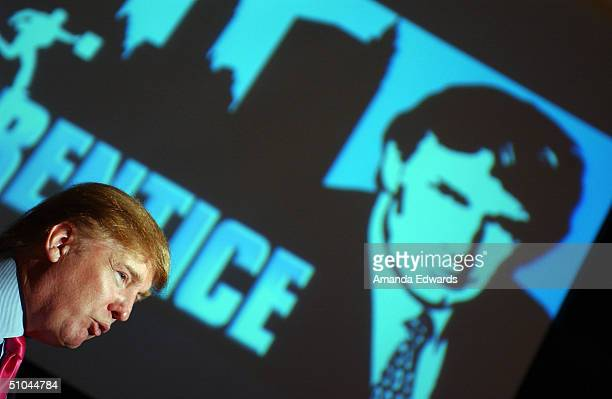 Businessman Donald Trump attends the first stop of the 16 city The Apprentice Recruiting Tour on July 9 2004 at Universal Studios Hollywood in...