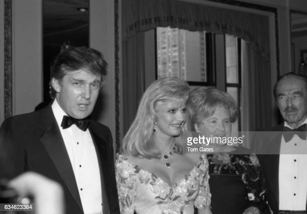 Businessman Donald Trump his wife Ivana Trump his mother Mary Anne Trump MacLeod and his father Fred Trump attend the Police Athletic League dinner...