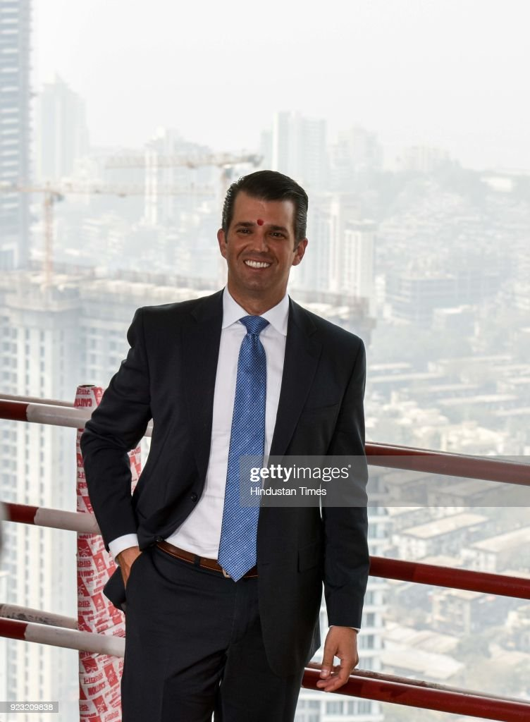 Businessman Donald Trump Junior Attends Topping-Out Ceremony Of Trump Tower In Mumbai
