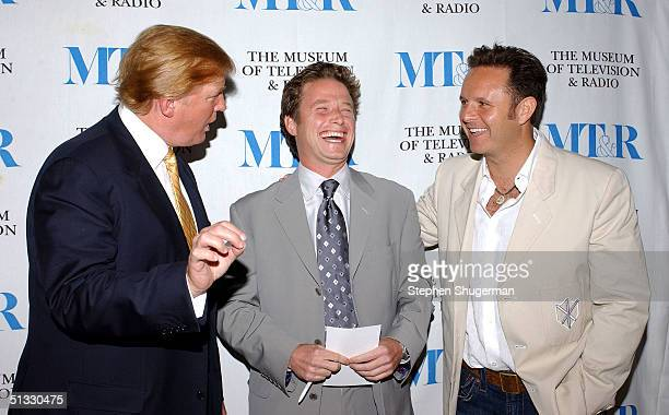 Businessman Donald Trump television host Billy Bush and Creator/Executive Producer Mark Burnett attend the Museum of Television and Radio presents...