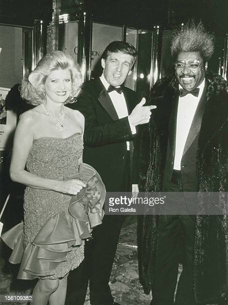 Businessman Donald Trump, wife Ivana Trump and boxing promoter Don King attend the book party for Donald Trump 'The Art of the Deal' on December 12,...