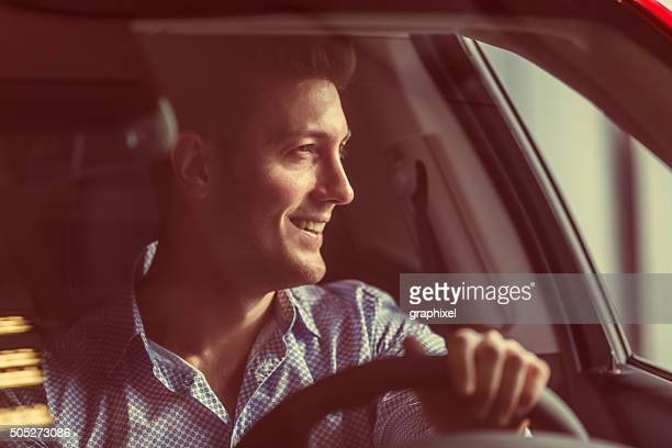 businessman driving car - test drive stock pictures, royalty-free photos & images
