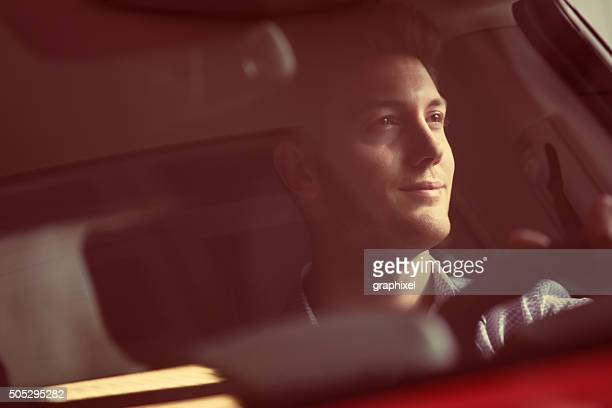 businessman driving car - toned image stock pictures, royalty-free photos & images
