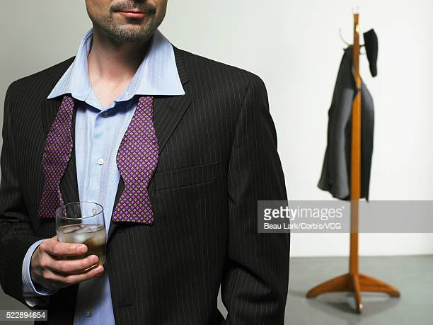 Businessman enjoying a drink