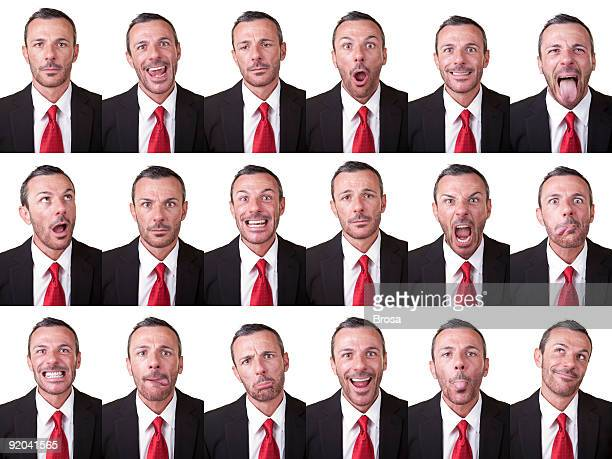 Businessman facial expressions