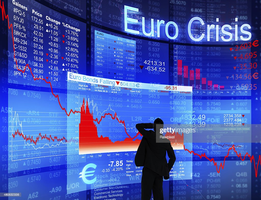 Businessman Facing Euro Crisis : Stock Photo