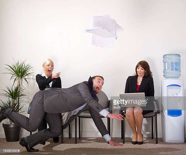 businessman falls over