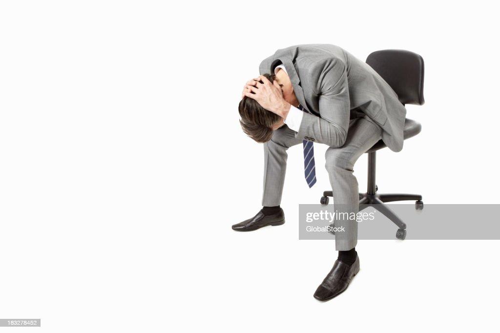Businessman feels failure : Stock Photo