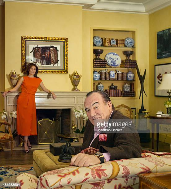 Businessman Fernando Fernandez Tapias and wife actress Nuria Gonzalez are photographed for Vanity Fair Spain on March 13 2015 in Madrid Spain...