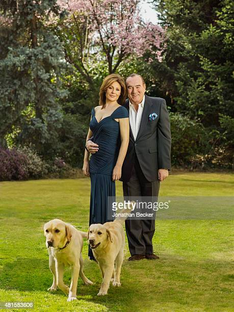 Businessman Fernando Fernandez Tapias and wife actress Nuria Gonzalez are photographed for Vanity Fair Spain on March 13 2015 in Madrid Spain