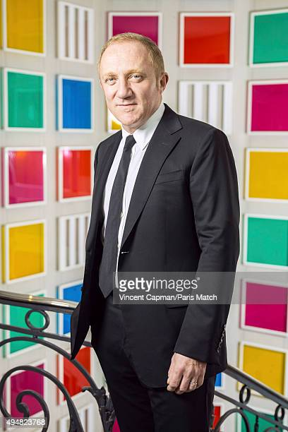Businessman FrancoisHenri Pinault is photographed for Paris Match on October 8 2015 in Paris France