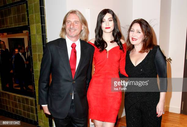Businessman Frank Otto with his girlfriend model Nathalie Volk and her mother Viktoria Volk during the German Boxing Awards 2017 on October 8 2017 in...