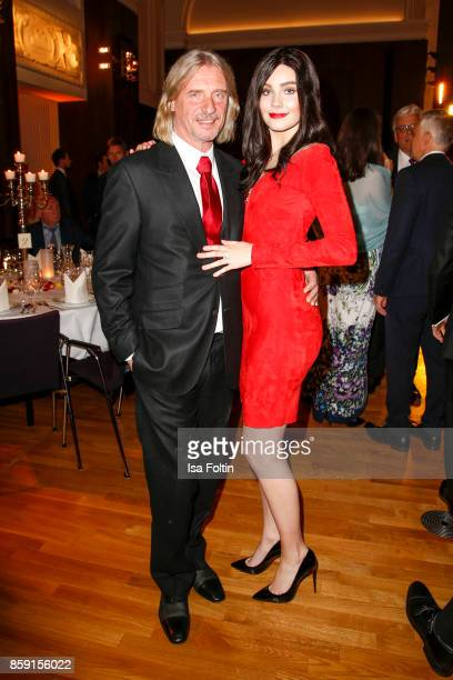 Businessman Frank Otto with his girlfriend model Nathalie Volk attend the German Boxing Awards 2017 on October 8 2017 in Hamburg Germany