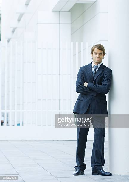 businessman, full length portrait - striped suit stock pictures, royalty-free photos & images