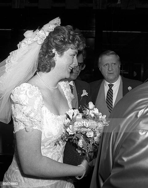 Businessman George Steinbrenner and daughter Jessica Steinbrenner attend Jessica SteinbrennerJoseph Malloy Wedding Ceremony on November 7 1987 at St...