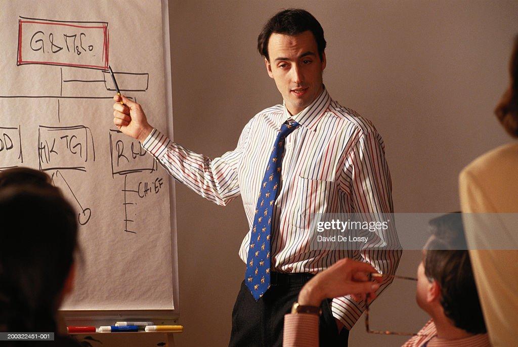Businessman giving presentation : Stock Photo