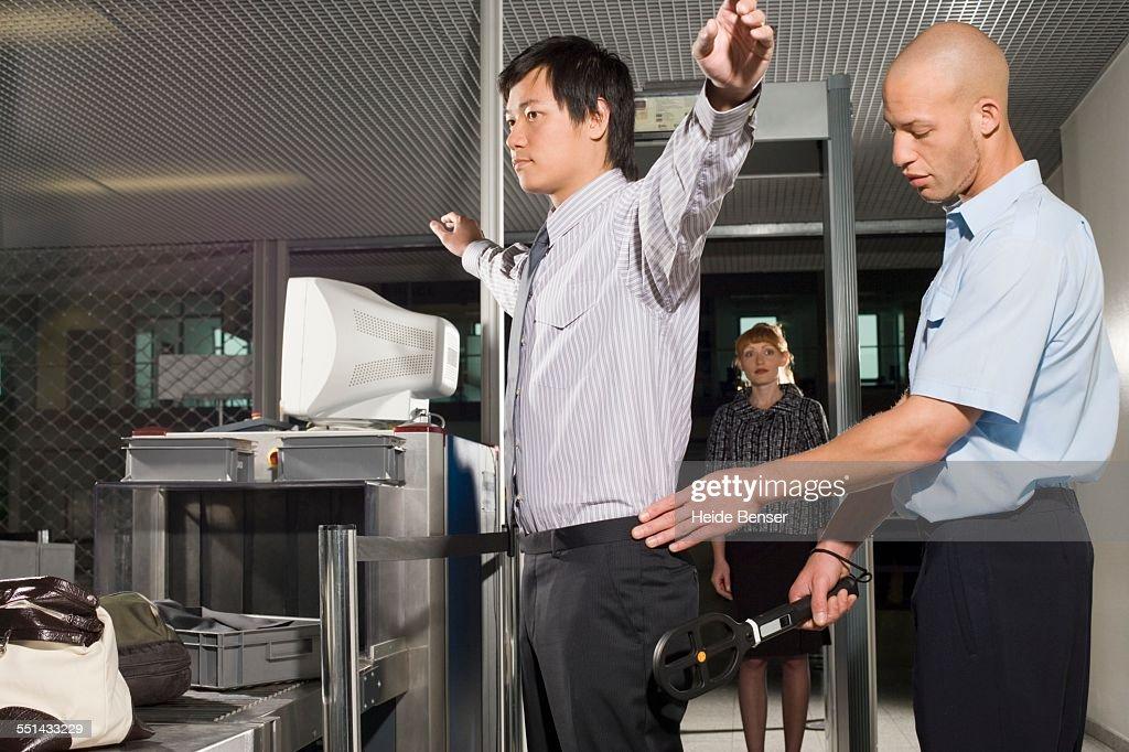 Businessman Going Through Airport Security : Foto de stock