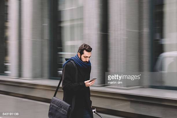 Businessman going to work