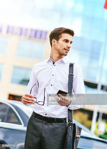 Geschäftsmann bei der Arbeit
