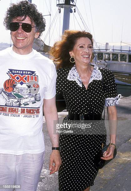 Businessman Gordon Getty and wife Ann Getty on August 18 1989 arrive at JFK Airport in New York City